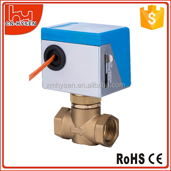 Three way motorized ball valve DN15