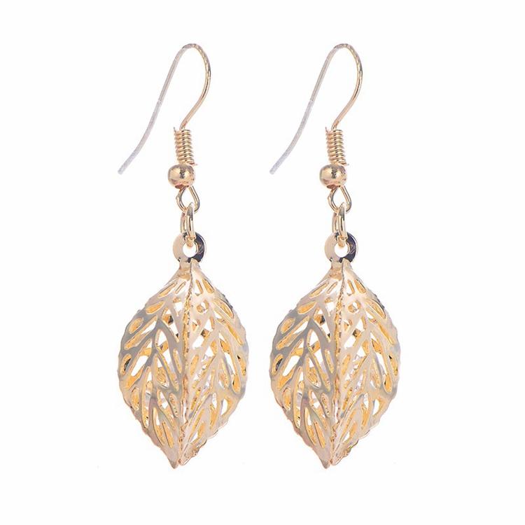 2017 new designs simple fashion arabic gold model jewelry earrings ...