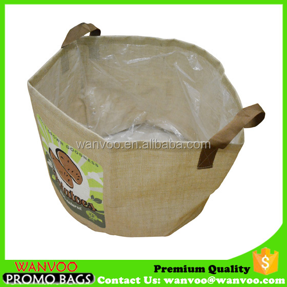 OEM Design Jute Vegetable Plant Grow Bags with Handle For Conservatory