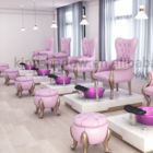 2019 pink kids nail salon spa equipment furniture manicure pedicure set spa chair with bowl