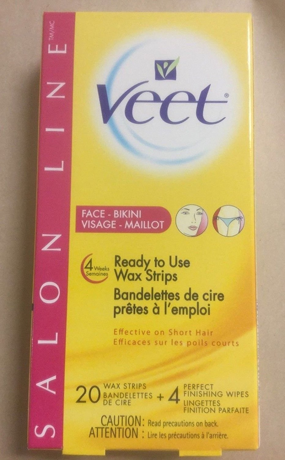 Buy Pack Of 2 Veet Salon Line Ready To Use Wax Strips Hair