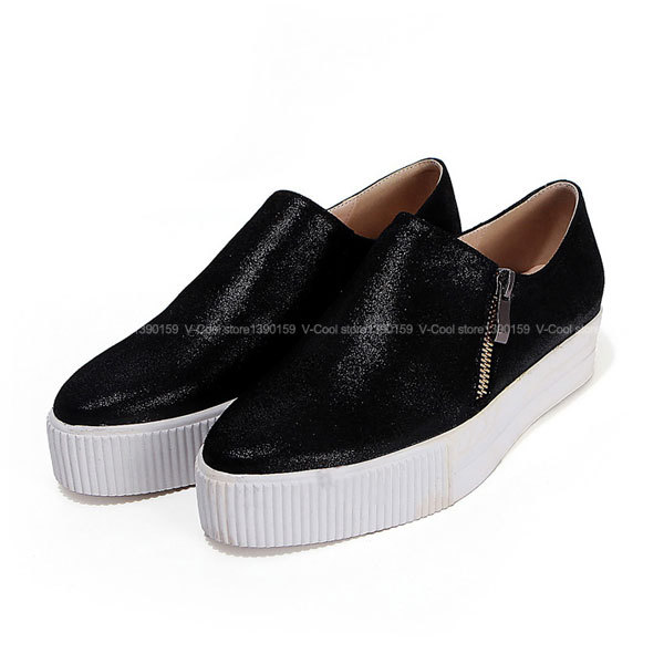 2890e7294bf158 Get Quotations · 2015 Women Sheepskin Loafers Ladies High Tops Casual Boat Shoes  Women Slip On Footwear Flats Espadrilles
