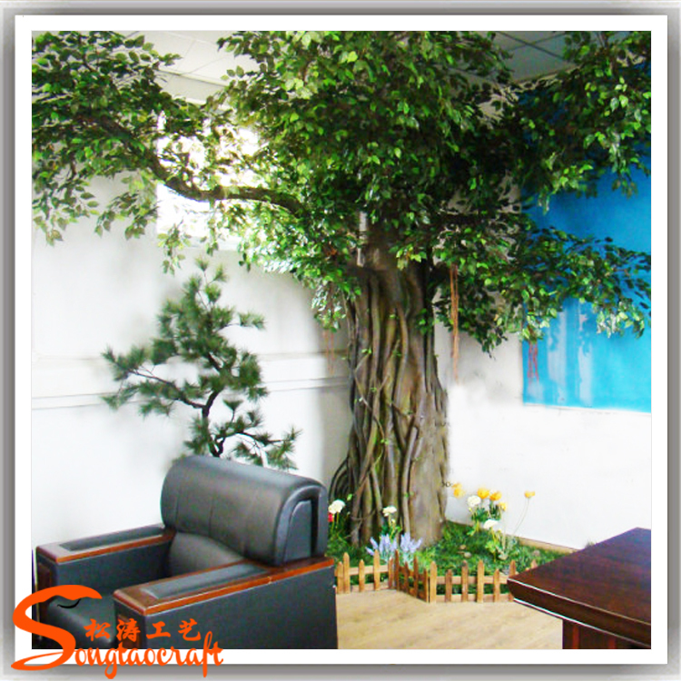 hot selling large fiber glass larger artificial decorative tree live ficus trees decoration for hotel - Ficus Trees