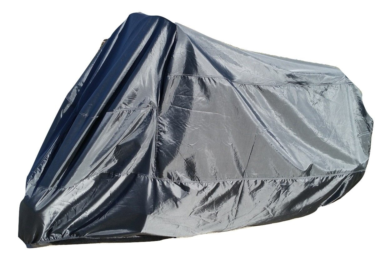 GAUCHO Motorcycle cover - Heavy duty all-season outdoor protection for large cruisers, tourers or choppers - Waterproof outside shelter with soft cotton and heat resistant liner inside. (3XL)