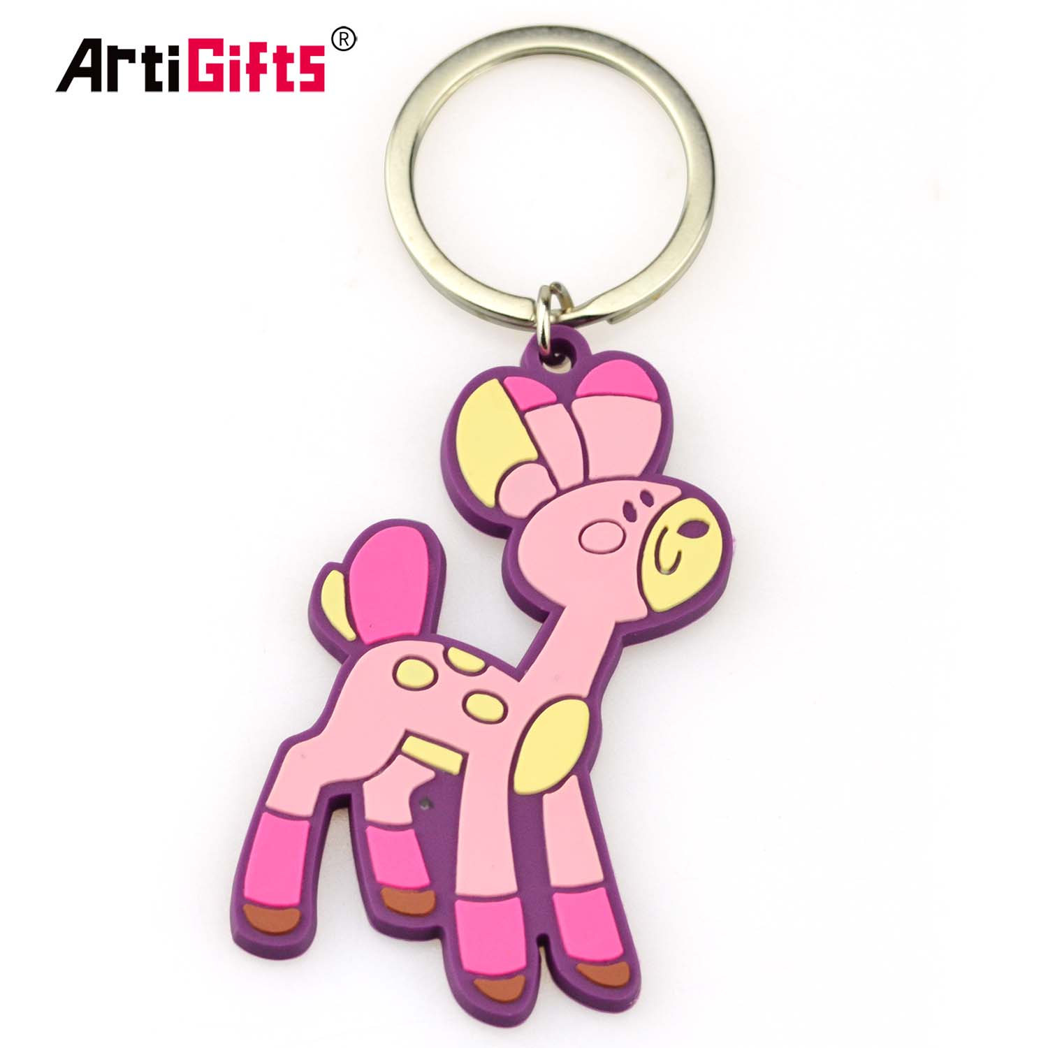 Factory Promotional Custom Car Logo Soft Pvc Rubber Keychain