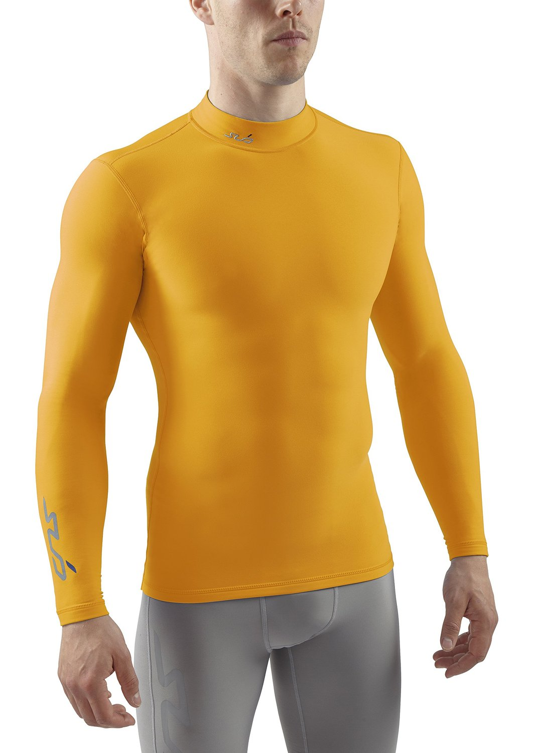 SUB Sports COLD Mens Compression Shirt - Mock Neck Long Sleeve Top Thermal Base Layer