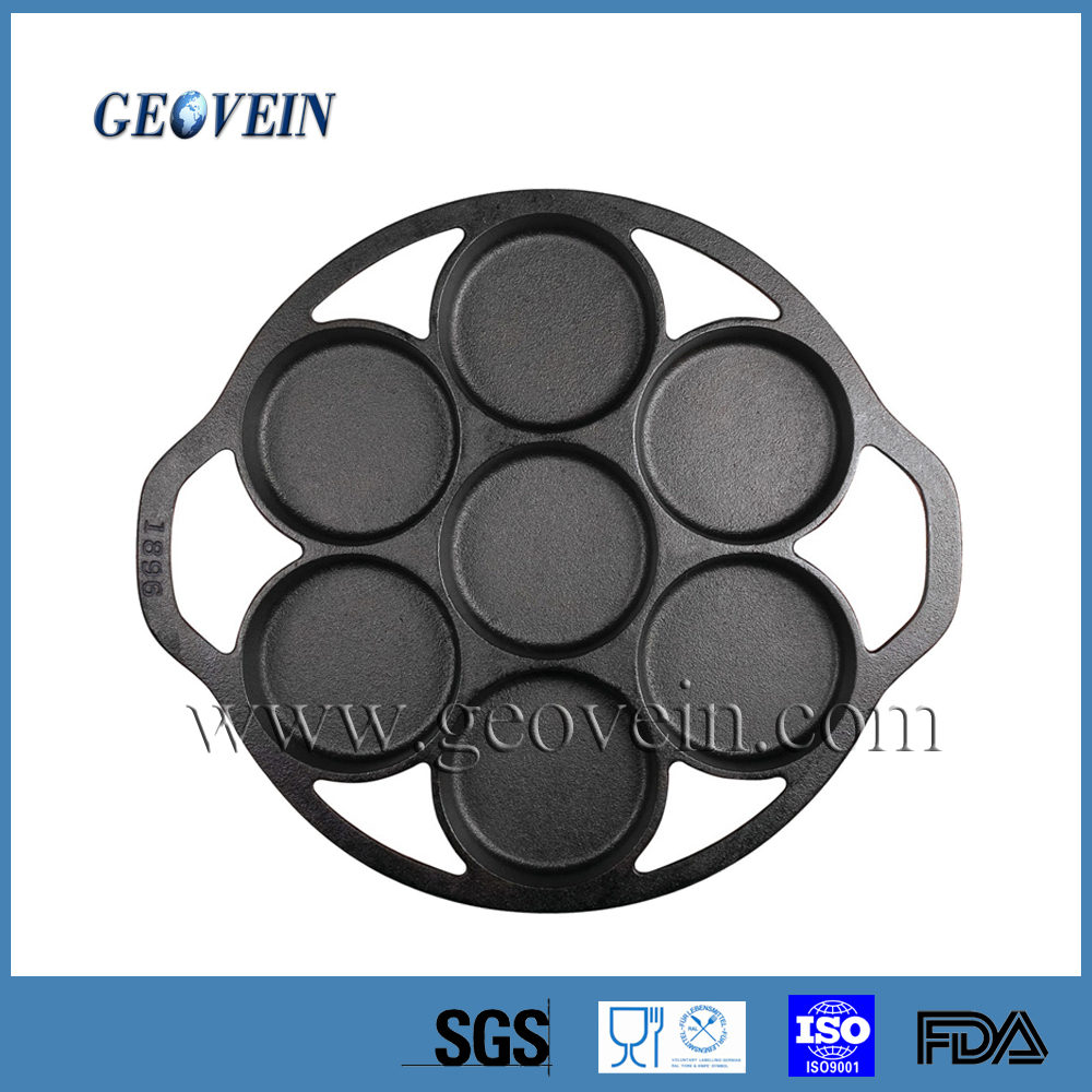 Pre-seasoned China Supplier Cast Iron Cake Pan