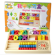 bead Calculation Frame Kids Wooden Preschool Educational Counting calculator colourful Toys