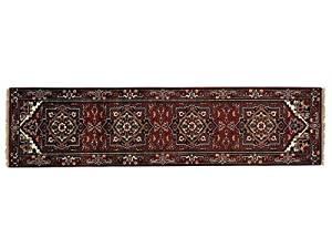 S&H Rugs sh21128 3 x 10 ft. Runner Serapi Heriz Tribal Design Hand Knotted Oriental Rug, Rust Red - Ivory & Light Green