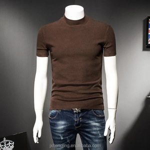 Autumn and winter in the men's cashmere turtleneck thickened slim T-shirt bottoming shirt