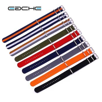 NL03 EACHE Wholesaler Nato Nylon Watch Straps 12mm 14mm 16mm 18mm 20mm 22mm 24mm(Stock)More Colors Cheap Nylon Watch Strap Band