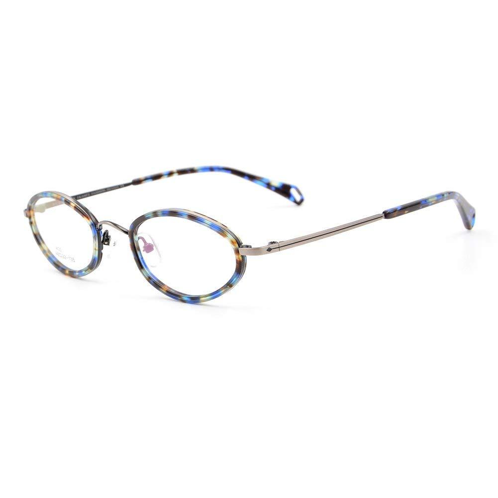 ab8ac27e3fe9 Get Quotations · Mens Womens Designer Full-rim Eyeglass Frame Eyewear Frame  Glasses Titanium Acetate Vintage Oval 48-