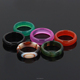 Wholesale new fashionable natural stones agate crystal finger ring