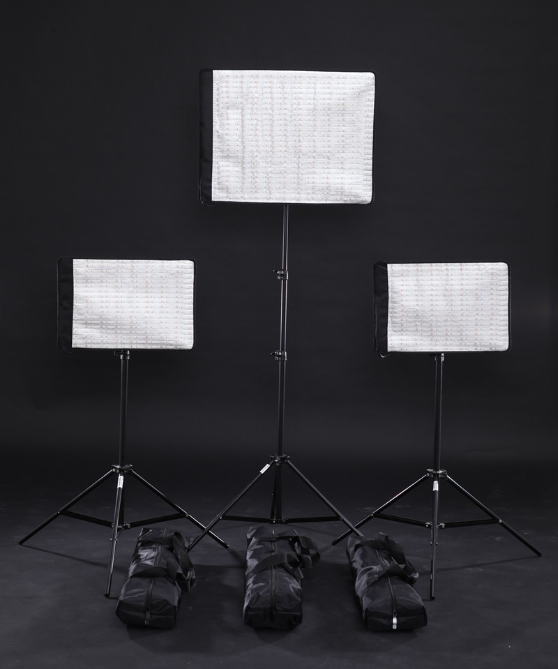 Ra95 5600K LED Photography Light Mat Panel Flexible Dimmable