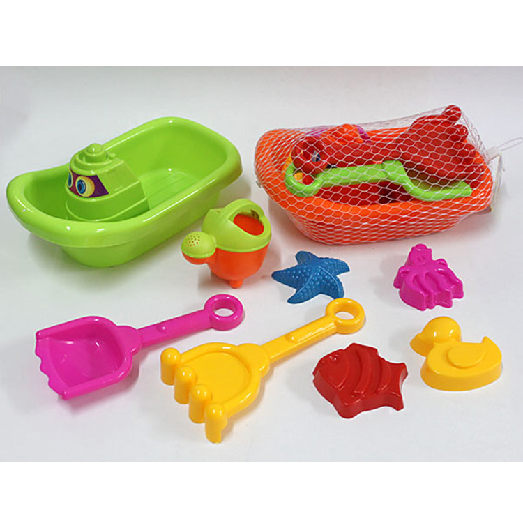 Outdoor children boat plastic fun sand toys for the beach