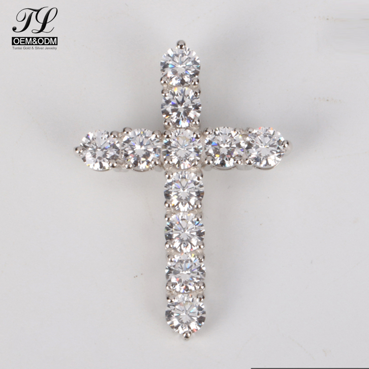 Custom supplied hip fashion mens white gold cross+fashion jewellery for young people