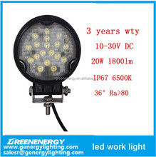 hunting accessory Ra>80 36degree 20W led work light for car and motorcycle