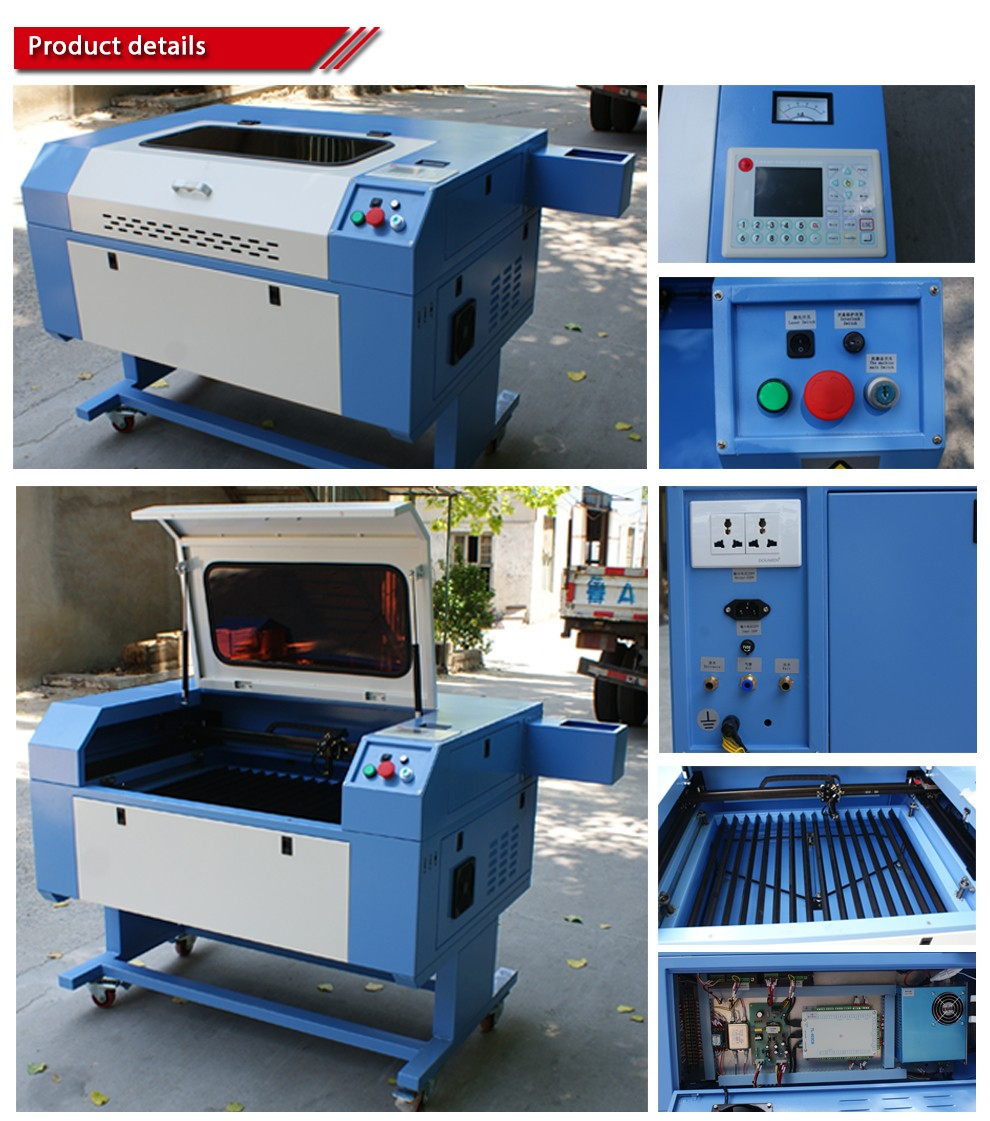 Draagbare CO2 laser machine laser buis co2 snijmachine 150 W