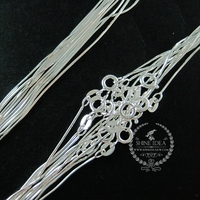 18inch 1mm 925 sterling solid silver snake chain DIY necklace chain supplies 1322030