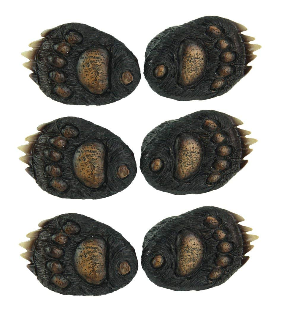 Metal & Resin Drawer Pulls Animal Tracks Rustic Black Bear Paw Drawer Pull Set 6 Piece 1.5 X 2 X 1.5 Inches Black