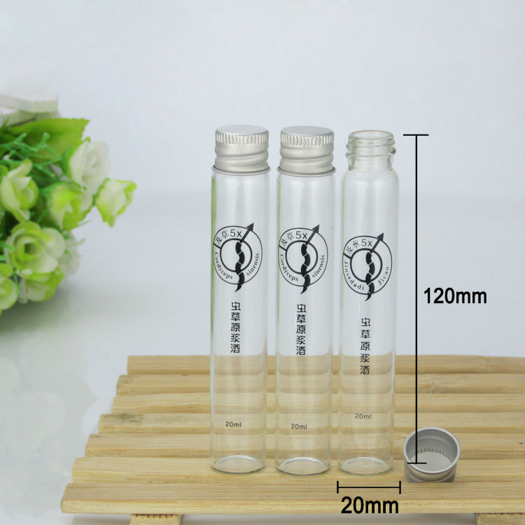 long tube type glass bottle with screw cap,OEM glass bottles,transparent screw type glass bottle