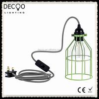 Vintage Ceiling Light Pendant Lamp Fixture Chandelier Edison Cage Shade