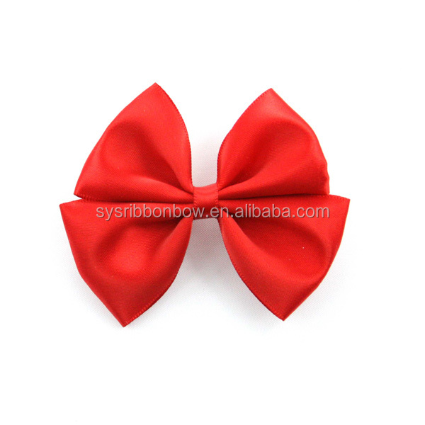 multiple colors satin ribbon bow tie