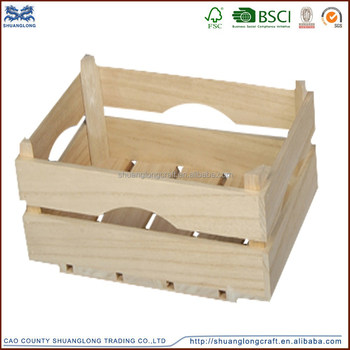 Handmade Wooden Crate For Fruit And Vegetables , Solid Traditional Wooden  Storage Crate