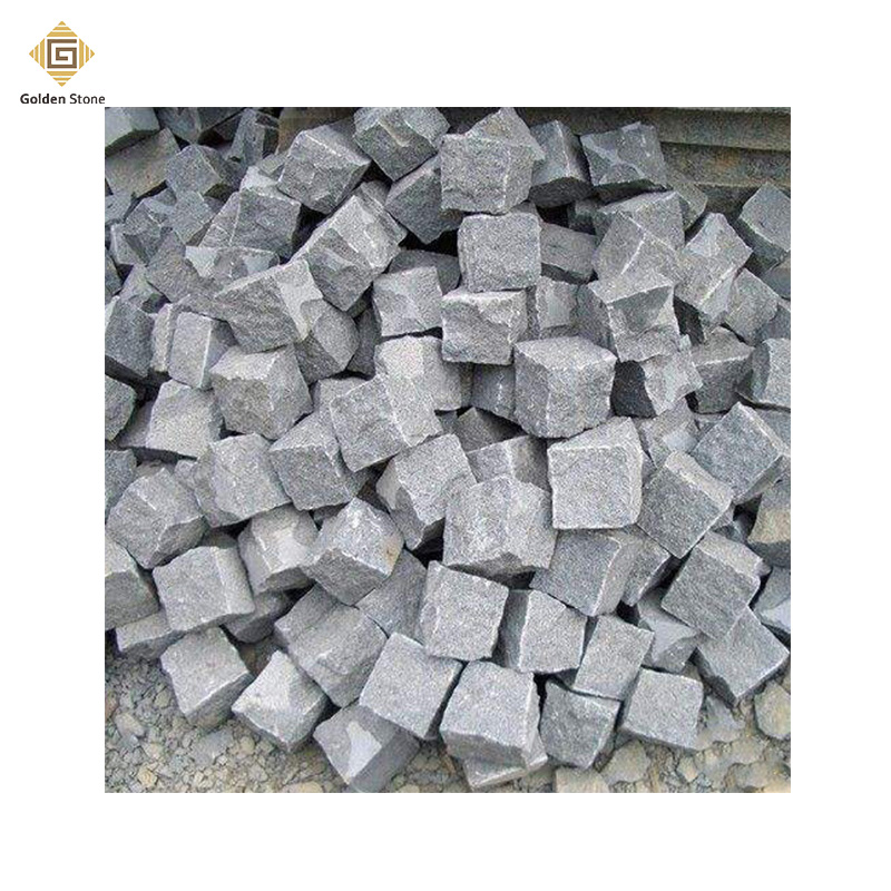 2017 new design bush-hammered porphyry paving stone with low price