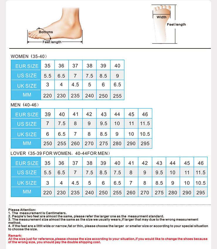Shoe Size Chart Height Men