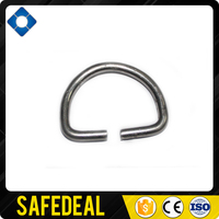 3.5mm Stainless Steel D Ring with Gap