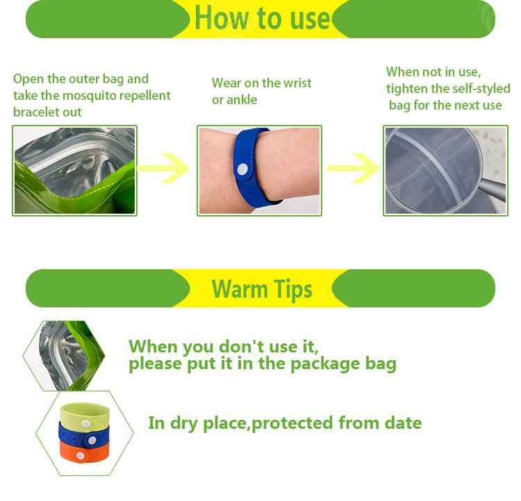 Factory price mosquito repellent bracelets for kids and adults
