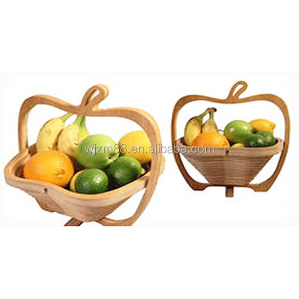 Großhandel Apfel Geformt Bambus Falten Obstkorb, Holz