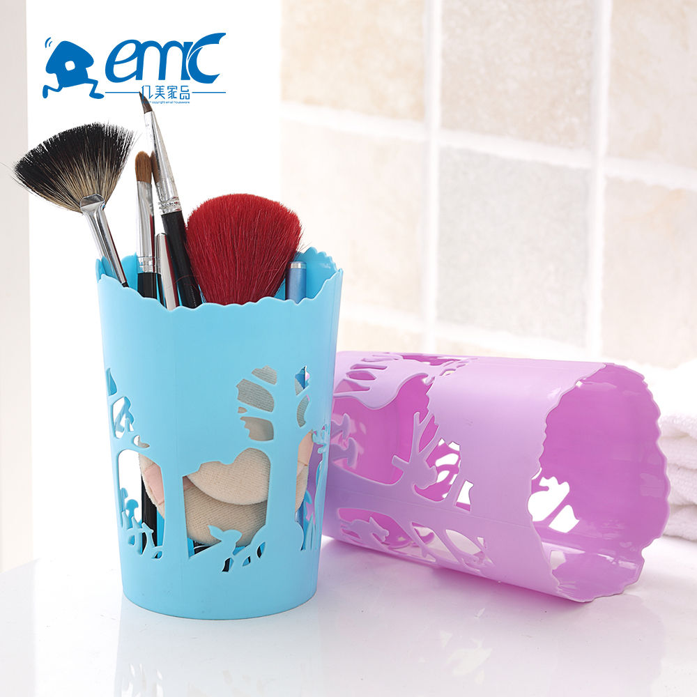 Piccolo maglie rotonde di plastica makeup brush holder