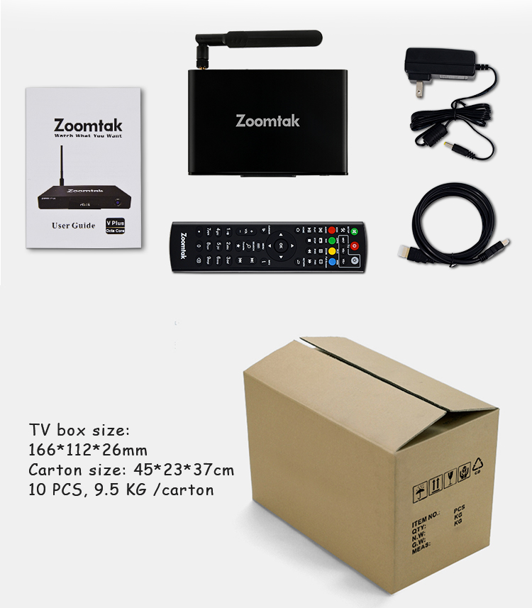 Best selling colored android 6.0 marshmallow OS octa core ott android tv box
