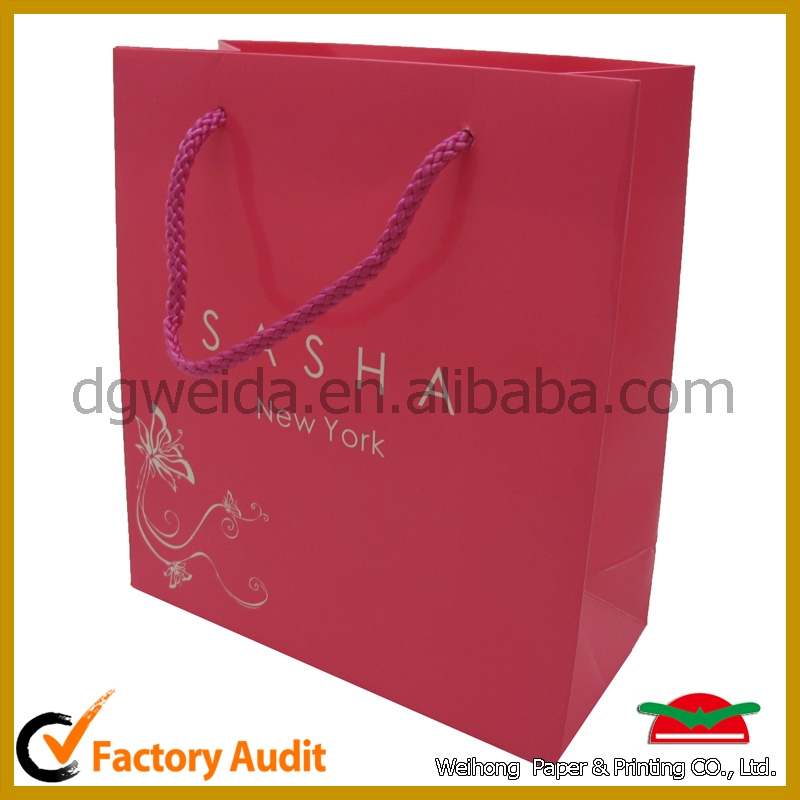 Professional manufacturer custom gift paper bag jewelry
