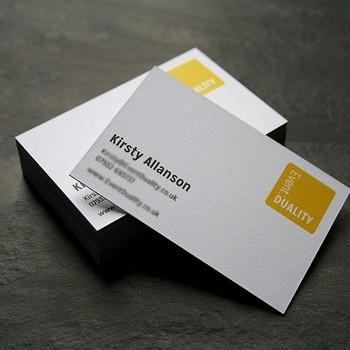 Presse De Lettre Timbre Chaud 800gsm Papier Carte Visite
