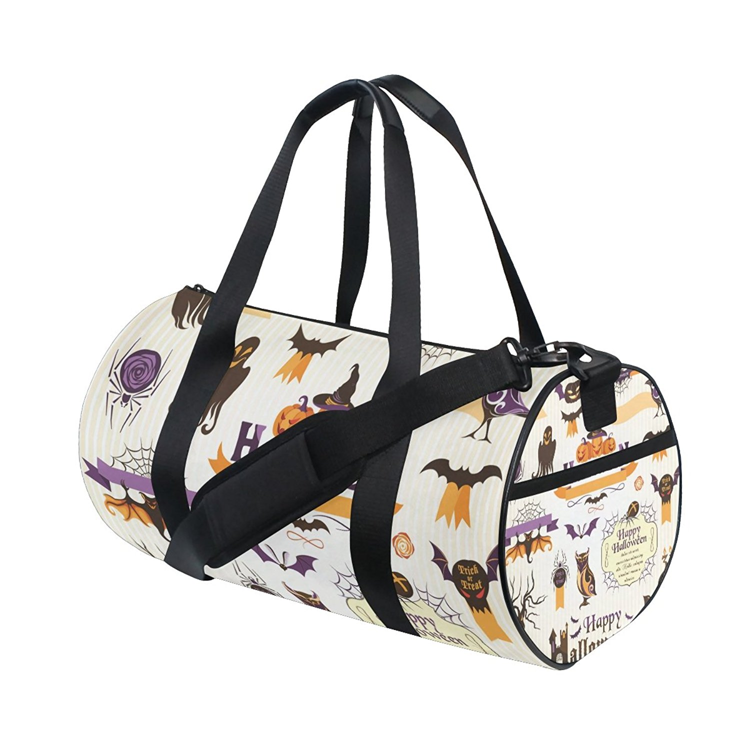 Get Quotations · ALIREA Halloween Tags Duffle bag Shoulder Handy Sports Gym  Bags for Men and Women b76082585fad9