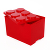 Lego Style Building Block Stackable Storage Box 55Liter Toy Box Deep 6-Circle