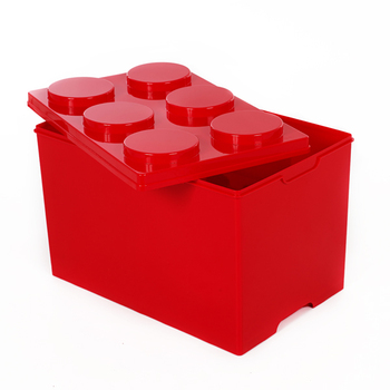 Lego Style Building Block Stackable Storage Box Toy Box Deep 6