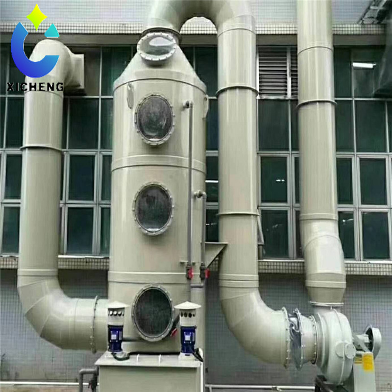 Air wet/gas scrubber + activated carbon air filter + exhaust fan + automatic dosing system=waste gas purification system