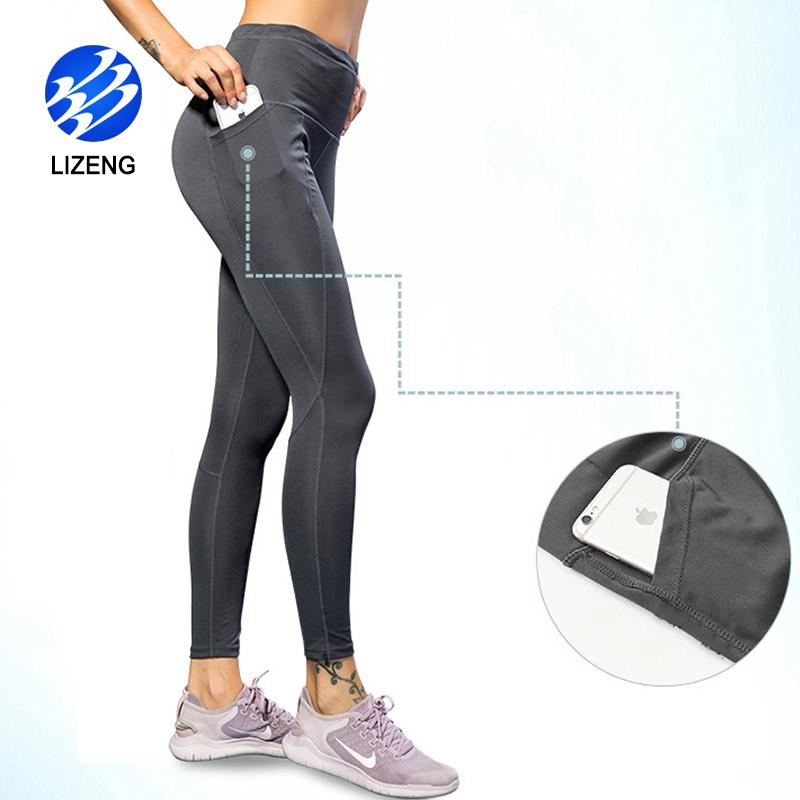 Frauen-Gamaschen-Trainingshose der hohen Taille mit Tasche