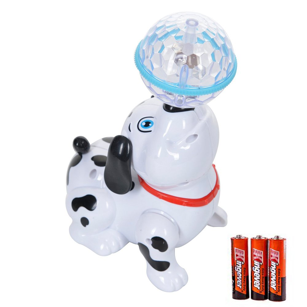 Toysery Walking Singing Dancing Puppy Dog Toy with Flashing Lights and sounds Children's Kids Toy - Battery Operated