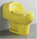 A3112 yellow white ceramic sanitaryware washroom coloured toilet bowl