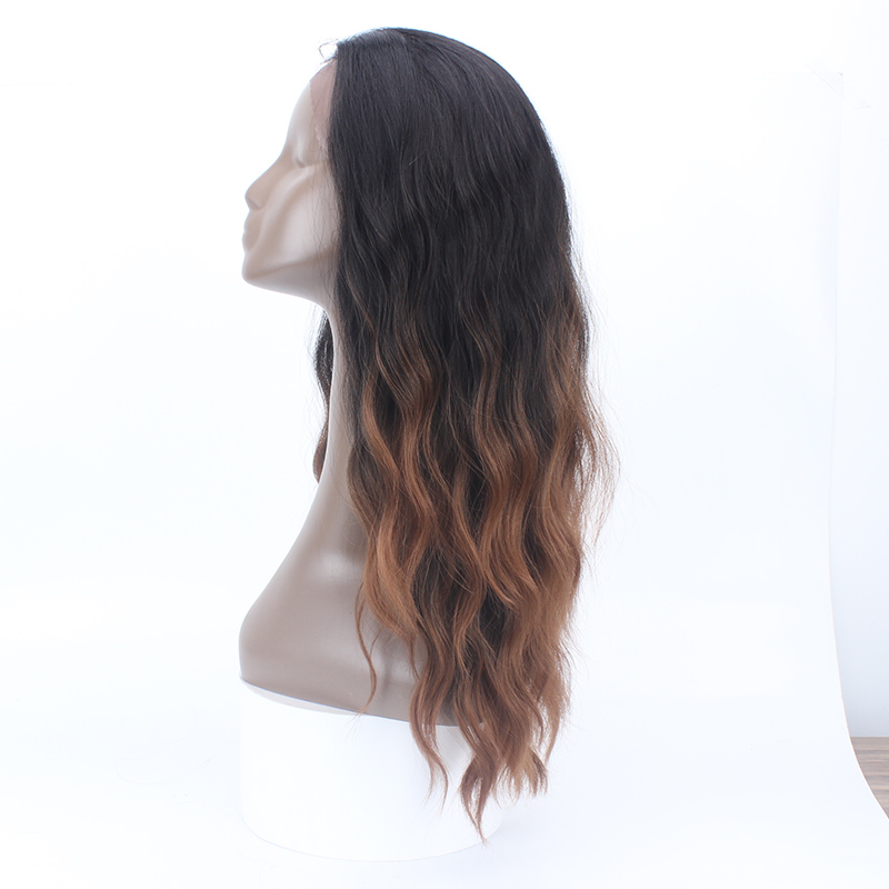 Natural Wave Ombre 6 Colors Heat Resistant Synthetic Lace Front Wigs For Black Women