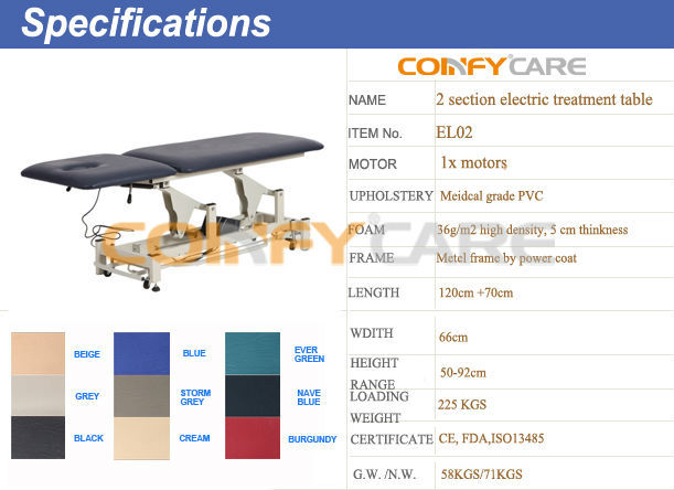 Coinfy EL02 hospital medical electric examination bed physiotherapy treatment beds