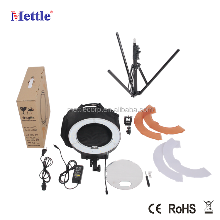 "Mettle 12"" 42W 180pcs LED Ring Light with high CRI LED used for makeup and photography"