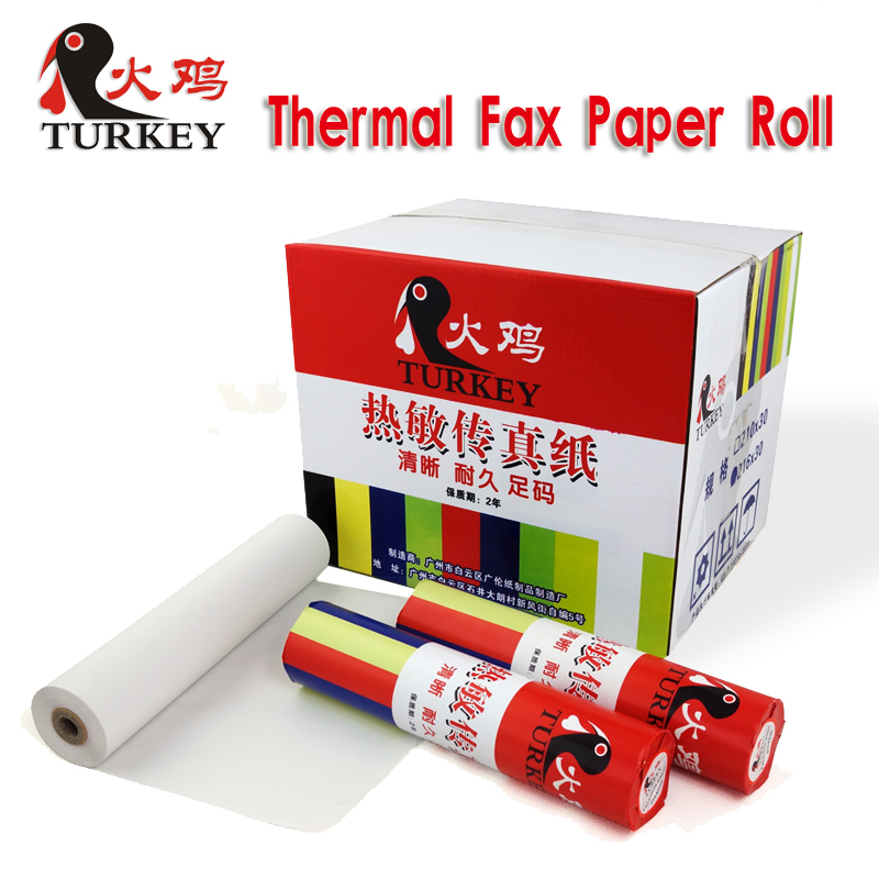 TK thermal fax paper roll 257mm x 30m top quality