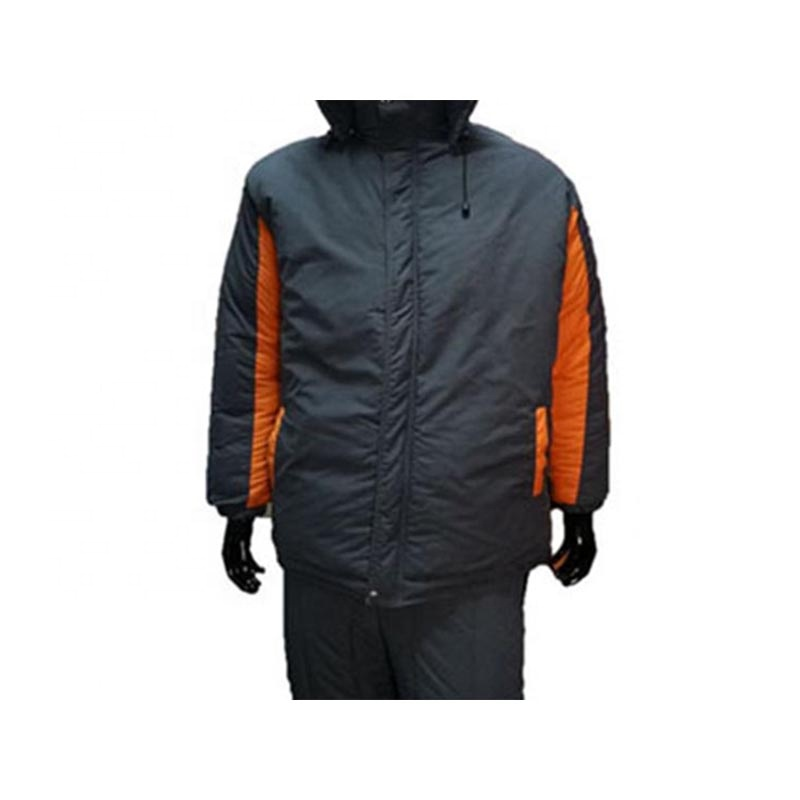 Factory Customized Men Winter Padded Jacket with Two Tone Dark Grey & <strong>Orange</strong> for
