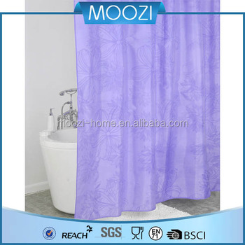 Water Proof Color Changing Shower Curtain Polyester Fabric